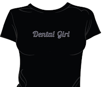 Dental Girl Rhinestone tees