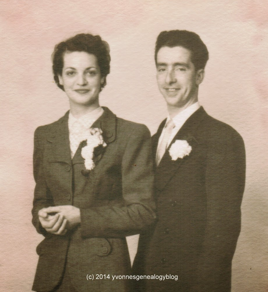 Maurice and Jacqueline Belair wedding photo