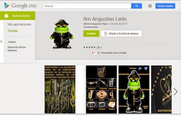 aplicacion android agrupacion musical angustias y soledad leon