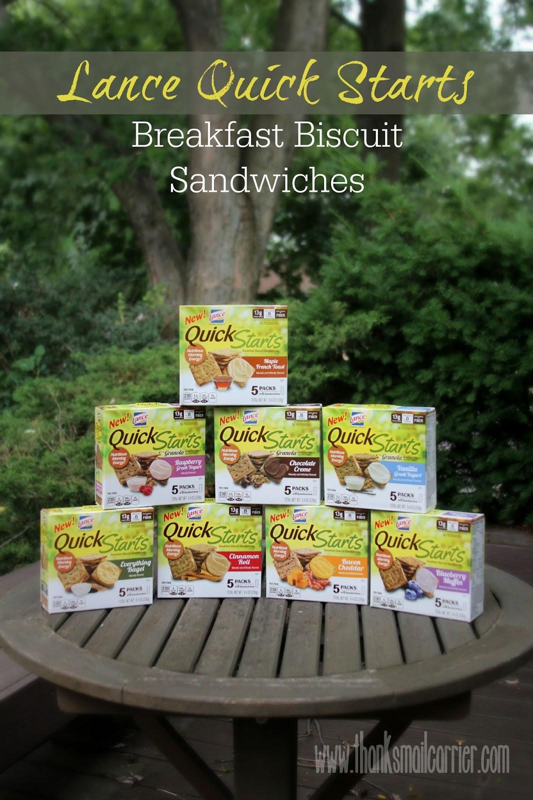 Lance Quick Starts breakfast biscuit sandwiches