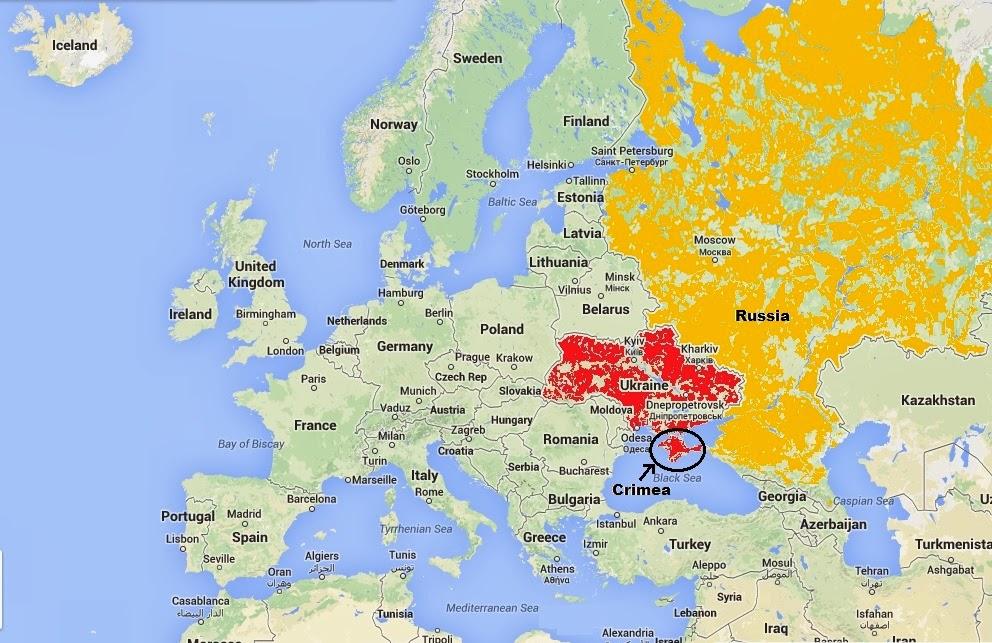 Map of Ukraine, Crimea, Russia | Keith\'s Interweb