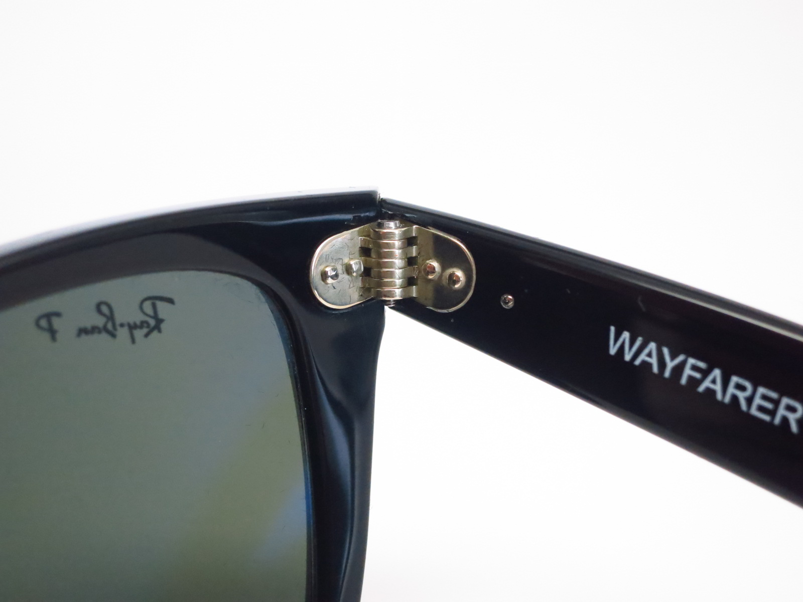 ray ban wayfarer 2140 50mm polarized  Ray-Ban RB 2140 Original Wayfarer 901/58 Shiny Black Polarized ...