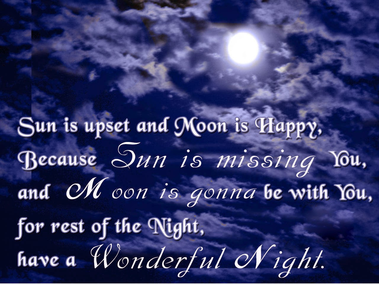 special latest good night quote photo with moon
