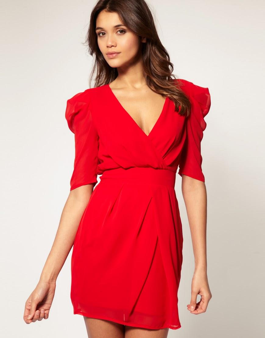 Vestidos rojos de moda 2013