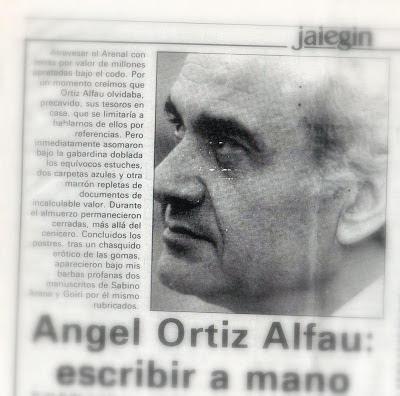 Con Angel Ortiz Alfau en Atxuri | En camisa de once varas