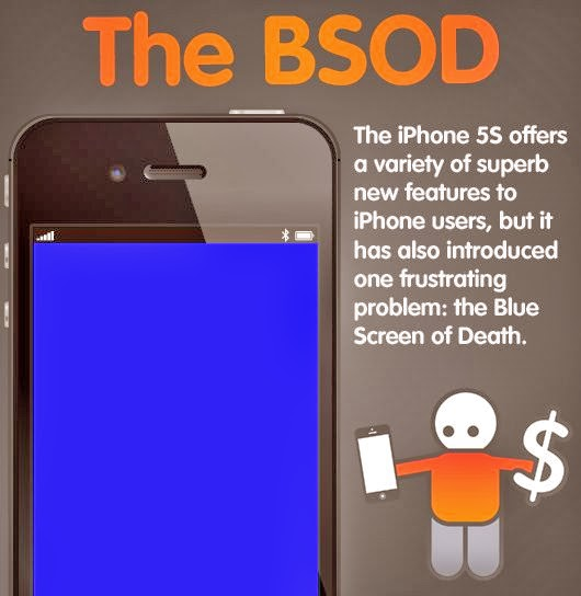 iphone 5s blue screen of death