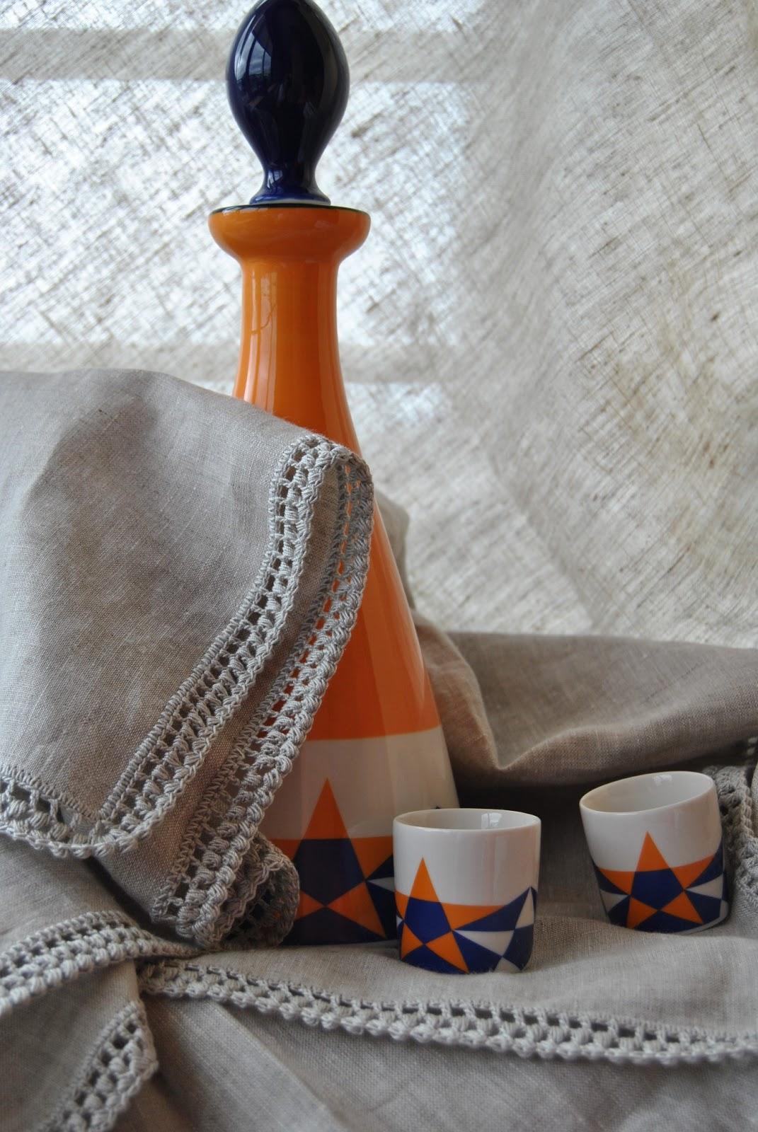 Crochet handmade manteles de lino y crochet color gris - Manteles de lino ...