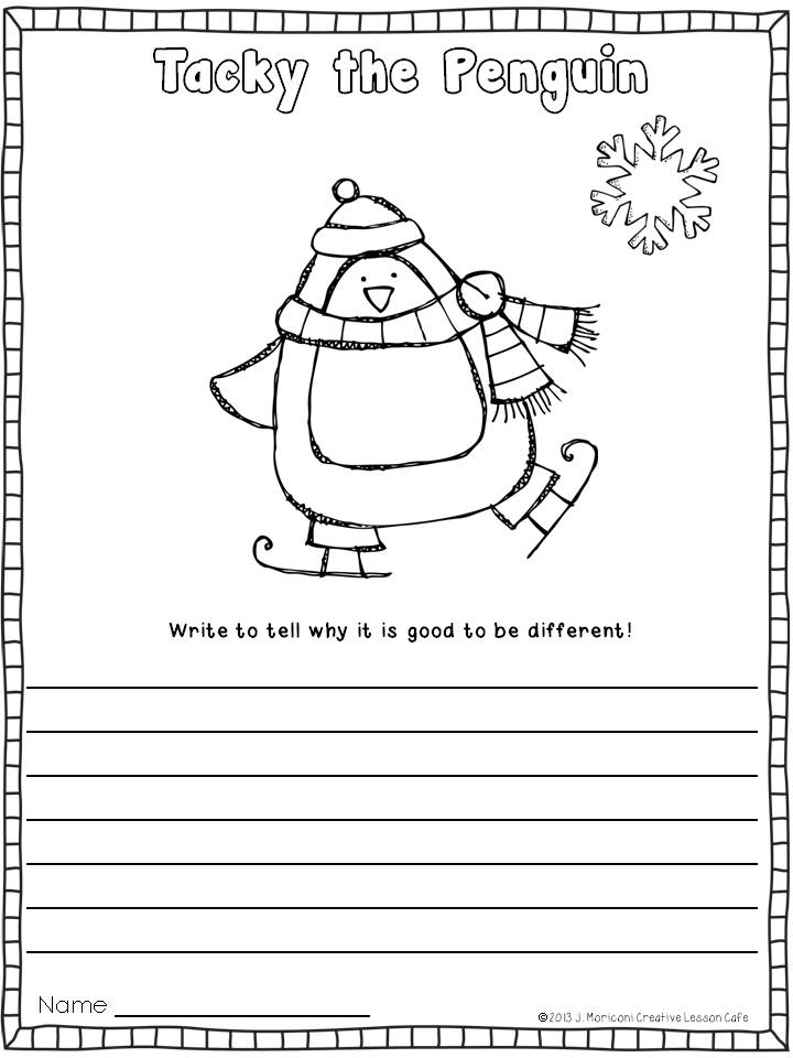 Creative Lesson Cafe Tacky the Penguin and a Tacky Freebie – Penguin Worksheets for Kindergarten