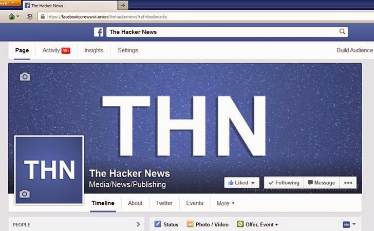 Facebook Now Accessible Via Tor Network Using Official .Onion Address