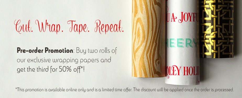pre-order promotion: holiday wrapping paper online promotion - limited time offer | creativebag.com