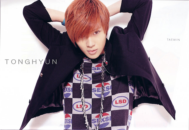 shinee taemin red hair korea stars magazine