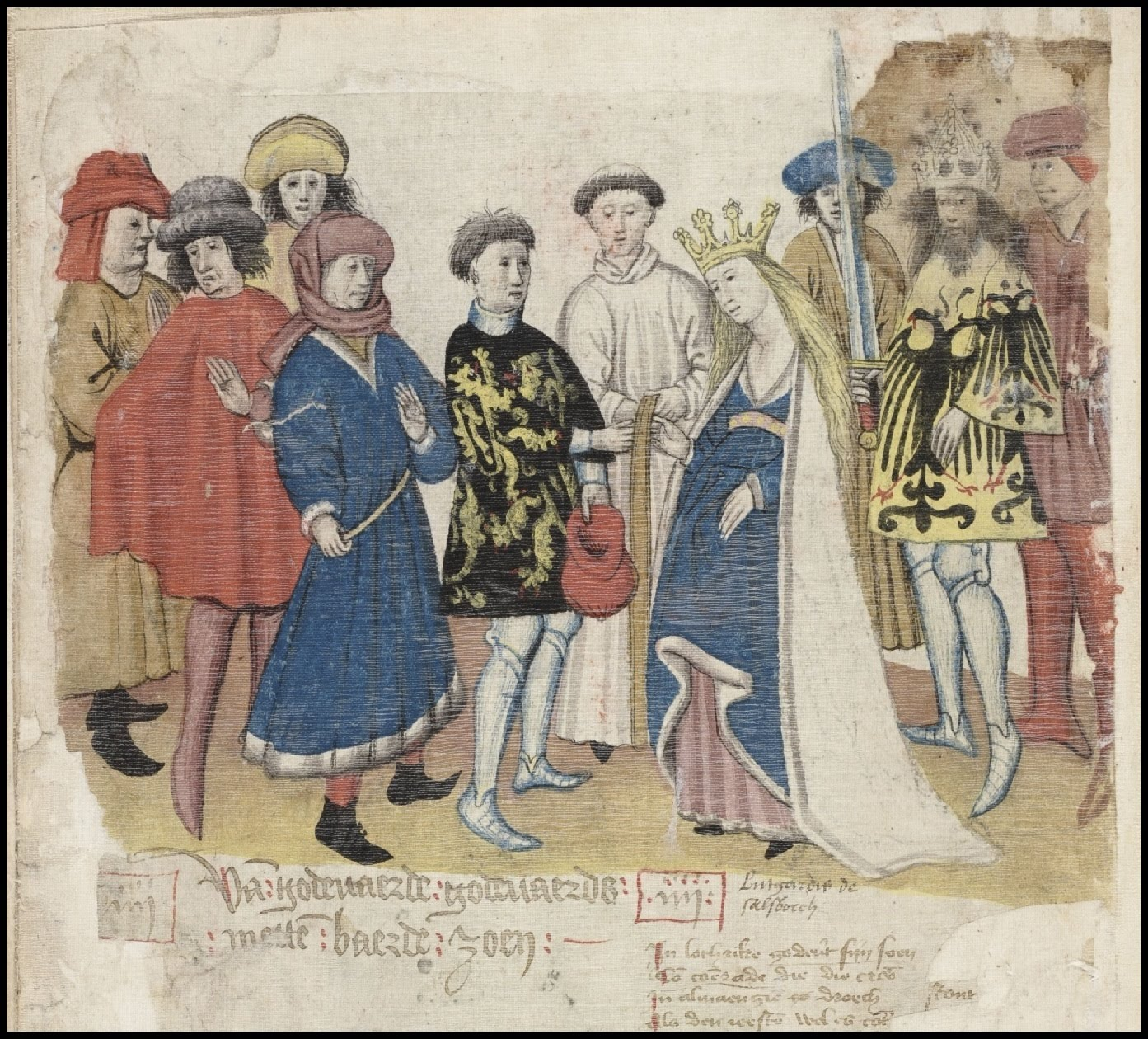 wedding ceremony in medieval manuscript - Brabant, Belgium