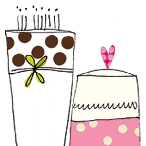 happy birthday cakes greeting cards stationery designers Liz and Pip Ltd