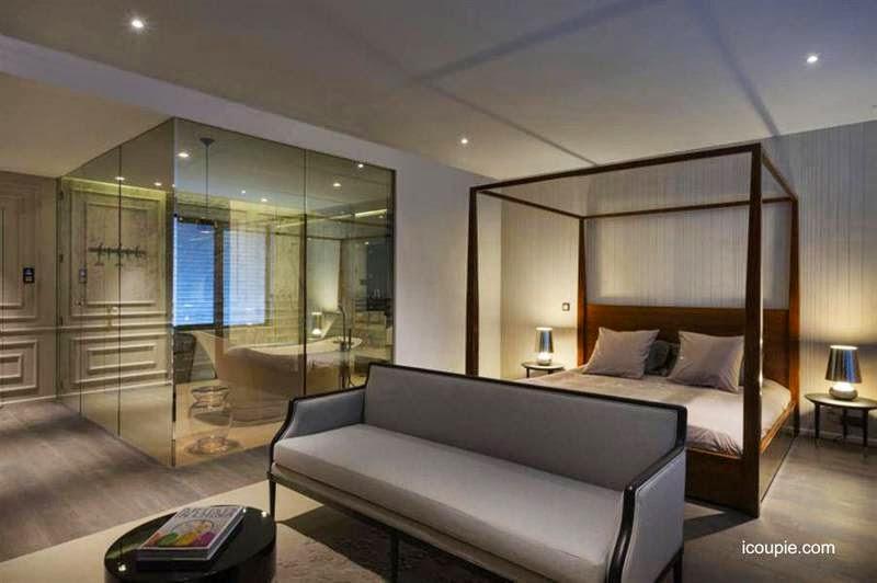 Arquitectura de casas modernos ba os integrados al for Dormitorio con bano
