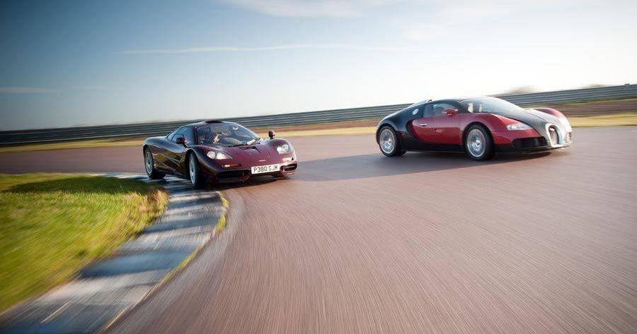 photos rowan test bugatti veyron vs mclaren f1 rowan atkinson fan. Black Bedroom Furniture Sets. Home Design Ideas