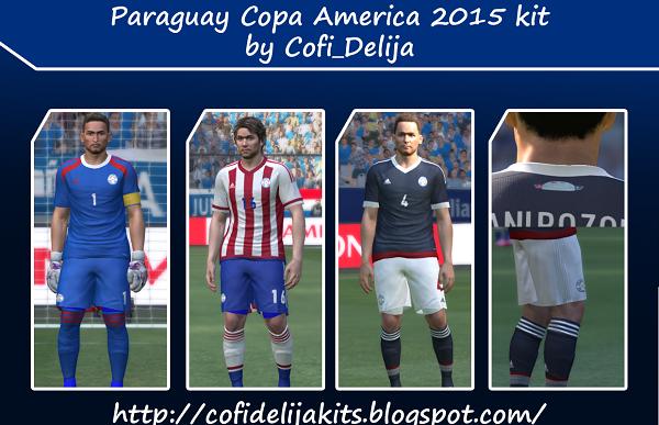 Update PES 2015 Paraguay Copa America 2015 Kit