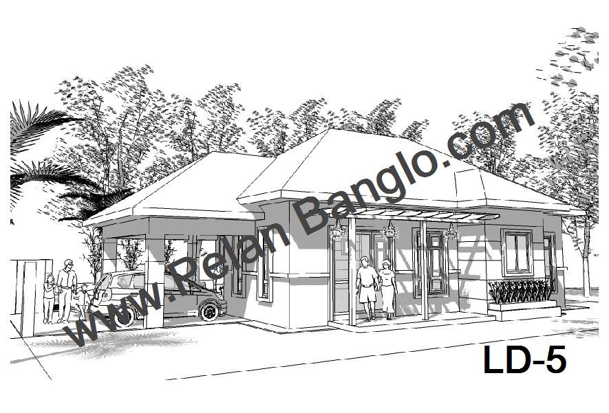 collection of 8 pelan rumah banglo setingkat 3 bilik idea rumah idaman ...