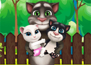 Talking Tom Family Gardening
