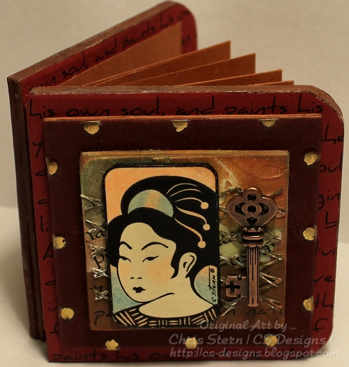 Traditional Geisha Domino digital stamp by Chris of CS Designs