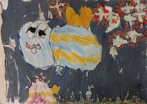 Trabajo seleccionado  por el concurso de Arte Mañolo, de Cecilia  7 años.