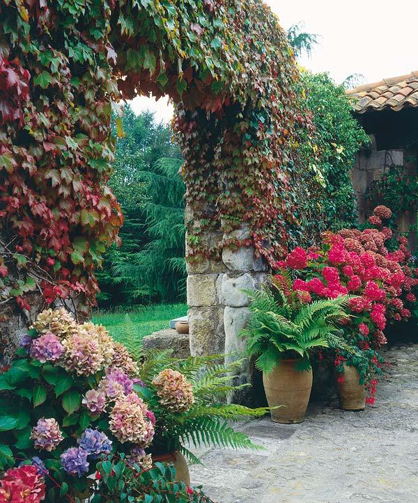 Estilo rustico jardin rustico Decoracion jardines exteriores rusticos