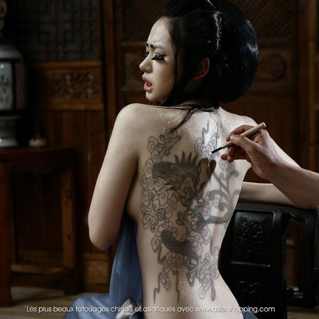 tatouage femme asiatique