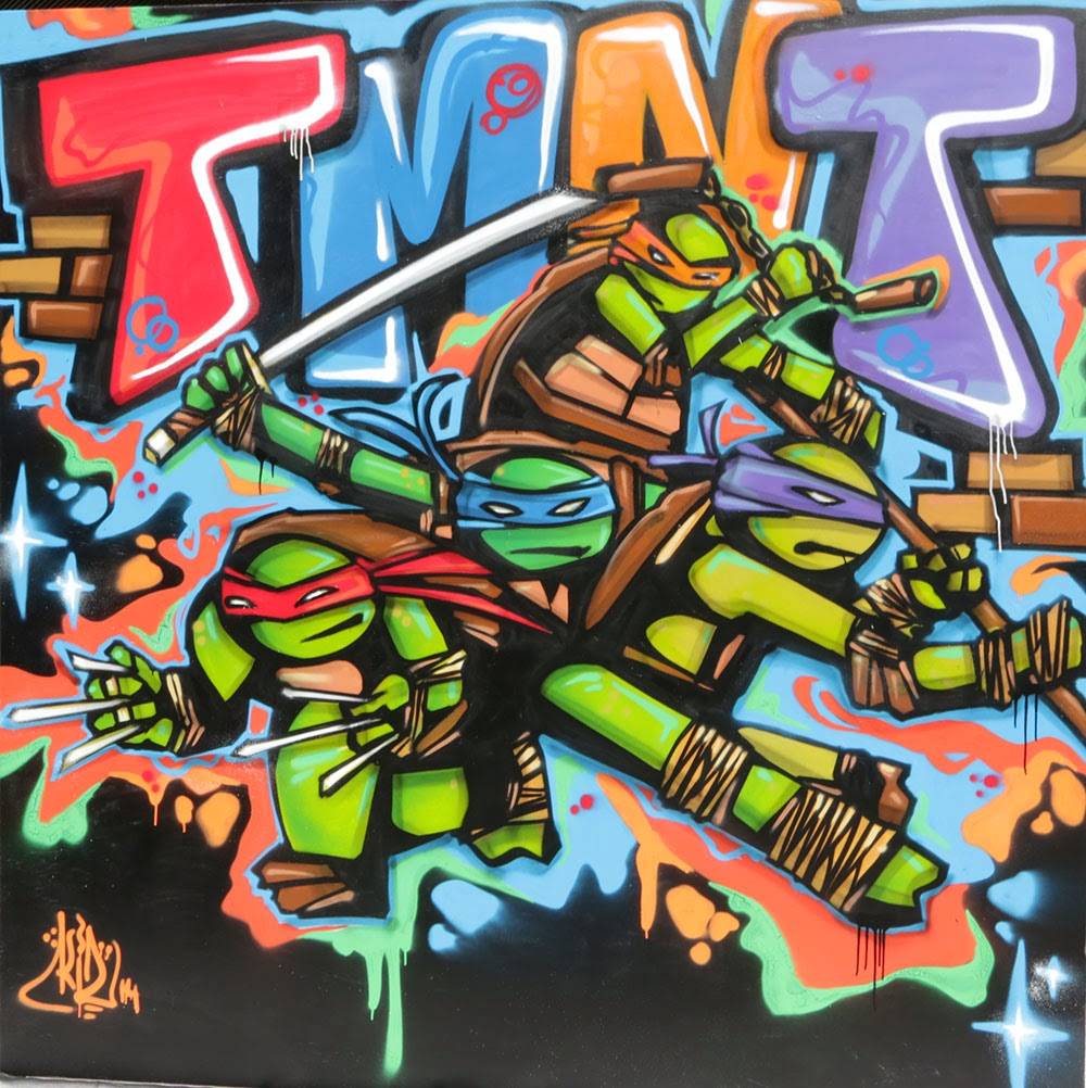 art street Ninja turtles