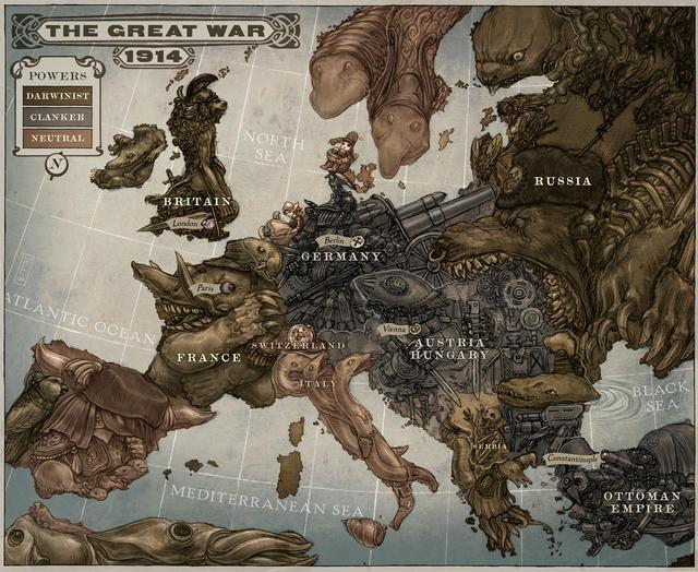 Mapa Steampunk