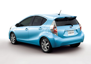 Exterior Back: Blue Color Toyota New Prius C / Aqua Hybrid