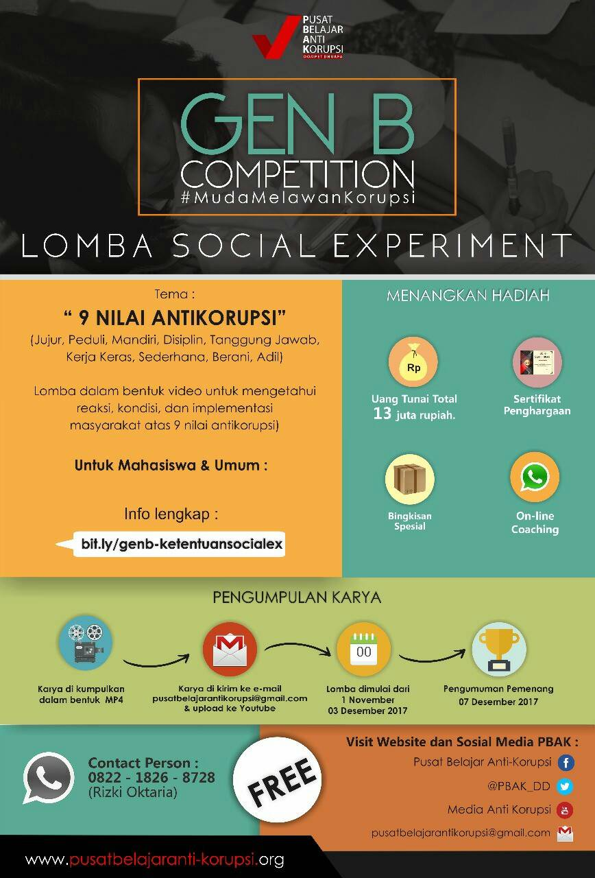 [GRATIS] Lomba Video Social Experiment Nasional 2017