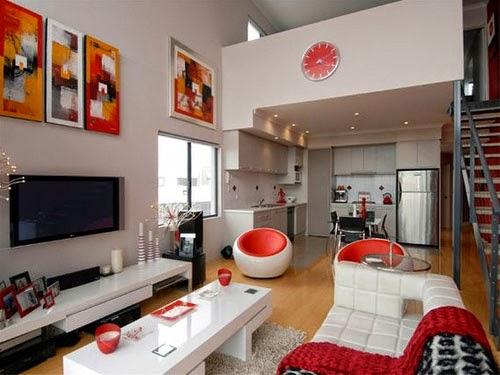meilleur salon en blanc et rouge