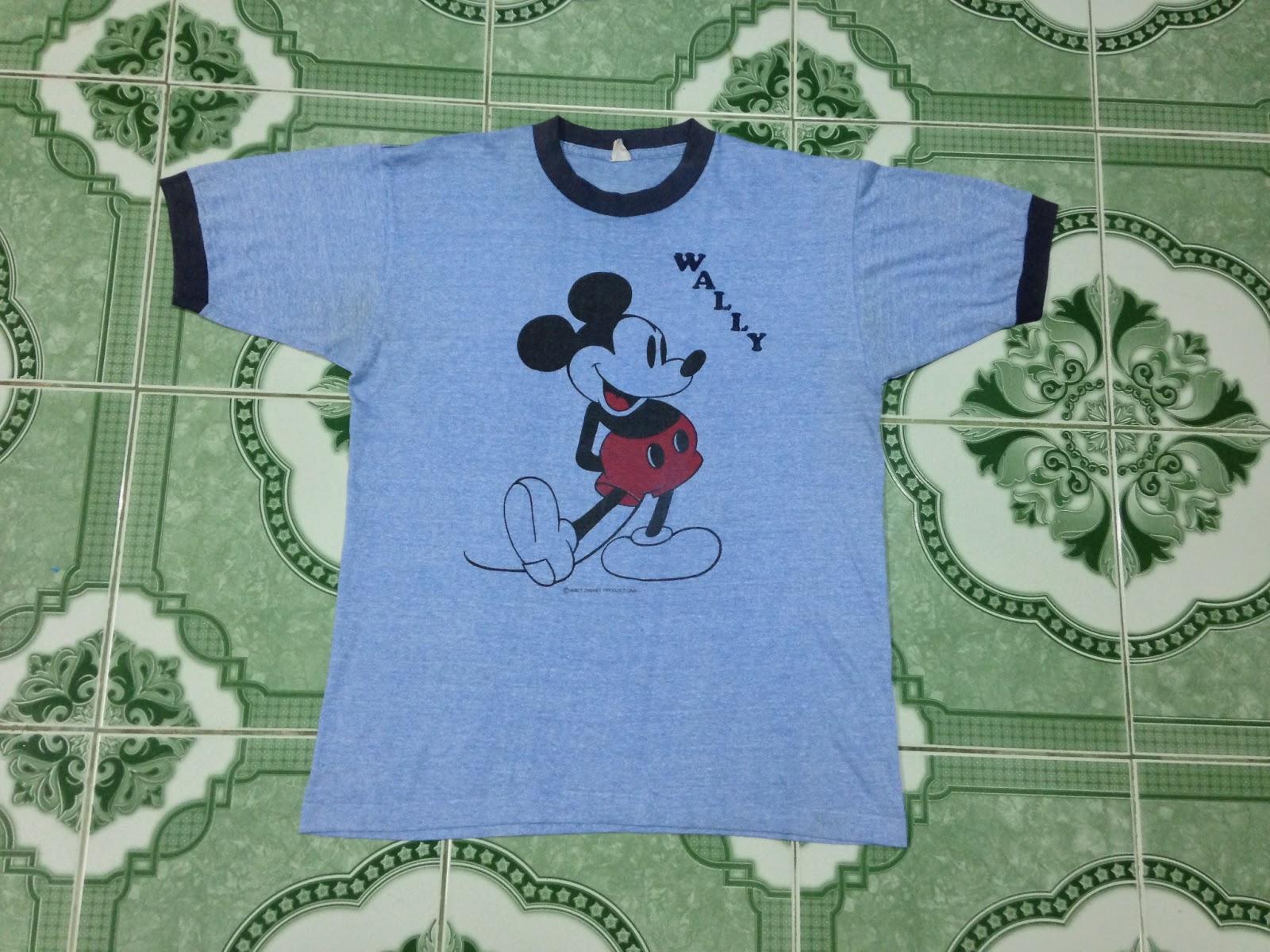 Kedai Baju Guniiiii Vintage Mickey Mouse Wally Ringer 3 Kain Anak Mikimouse