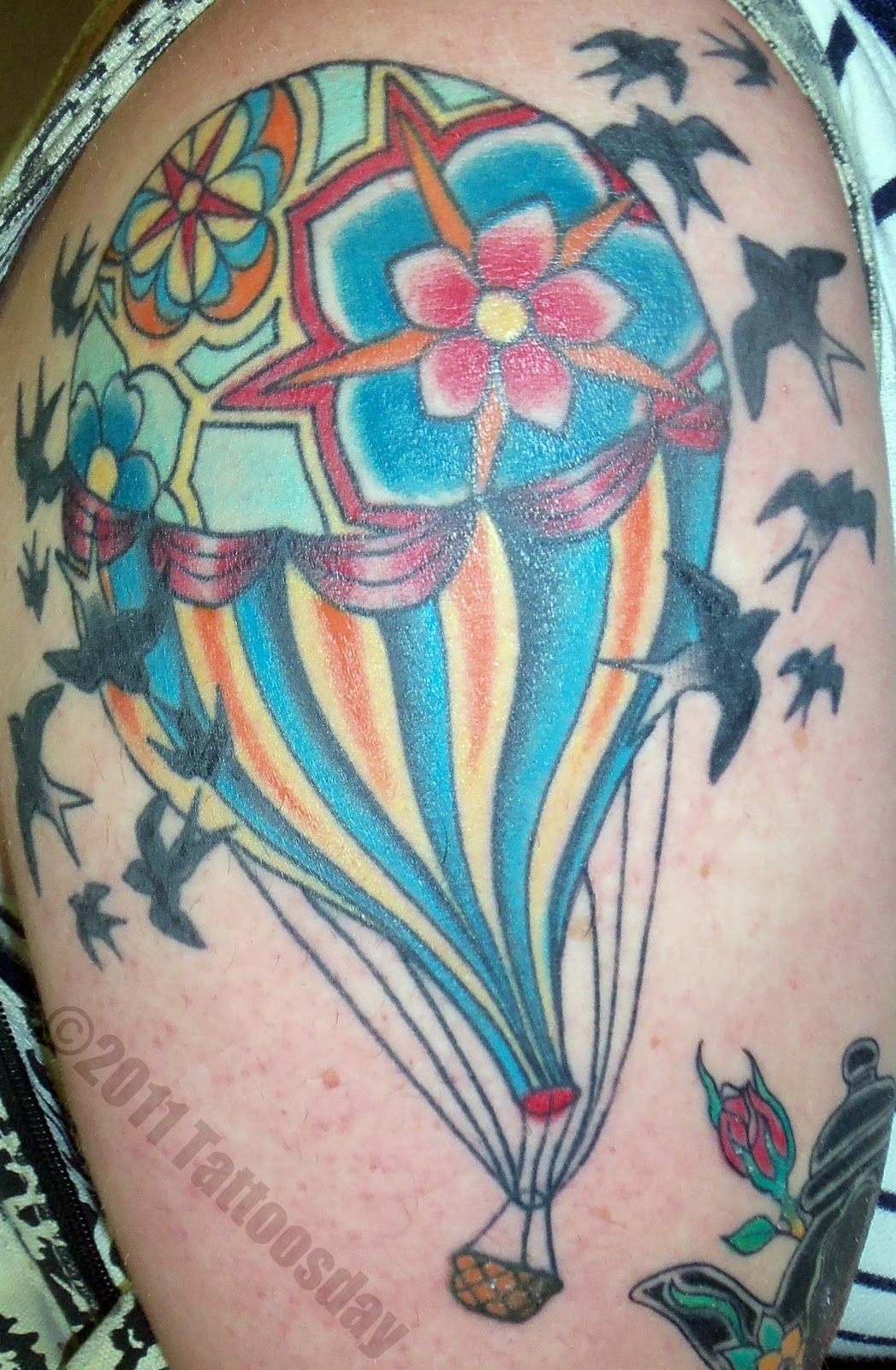 Tattoosday (A Tattoo Blog): Amy and Her Colorful Hot Air ...