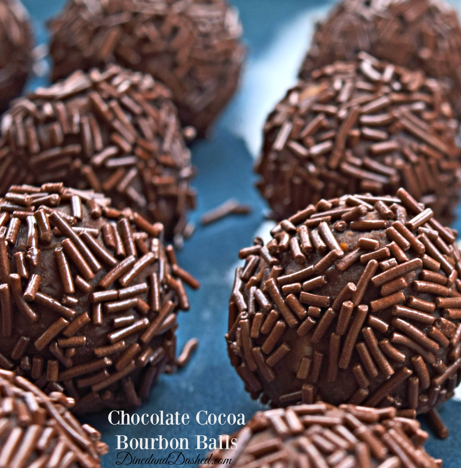 Chocolate Cocoa Bourbon Balls | Dined and Dashed