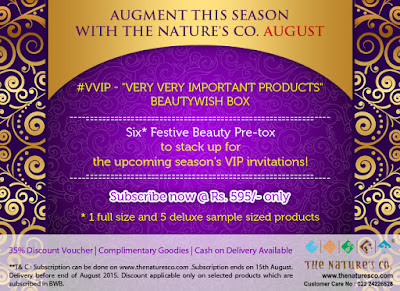 "This August The Nature's Co. Launches #VVIP ""Very Very Important Products"" BeautyWish Box image"