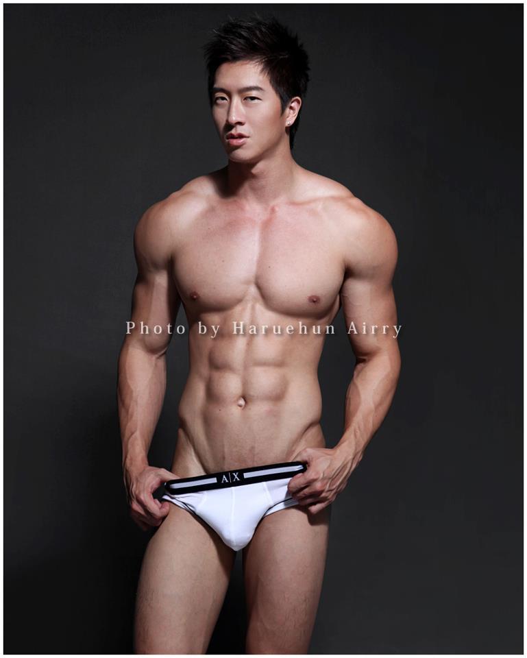 Asian male underware model
