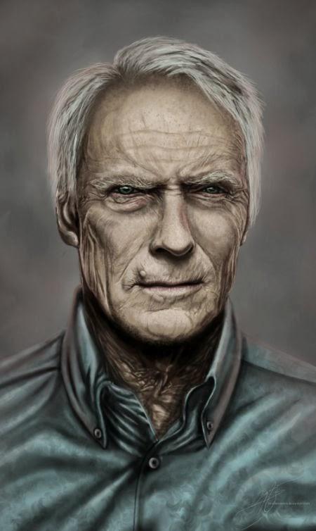 Angela Bermudez deviantart pinturas filmes cultura pop cinema Clint Eastwood