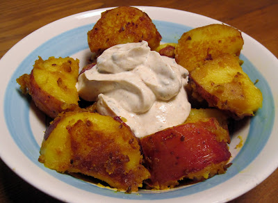 Aloo Dum Indian fried potatoes