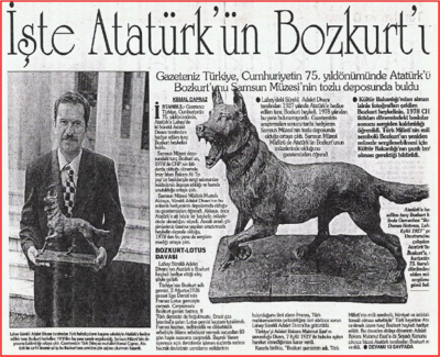 Atatürk'ün Bozkurt heykeli