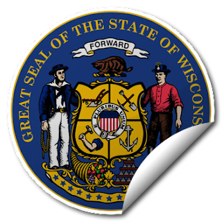 Sticker of Wisconsin Seal