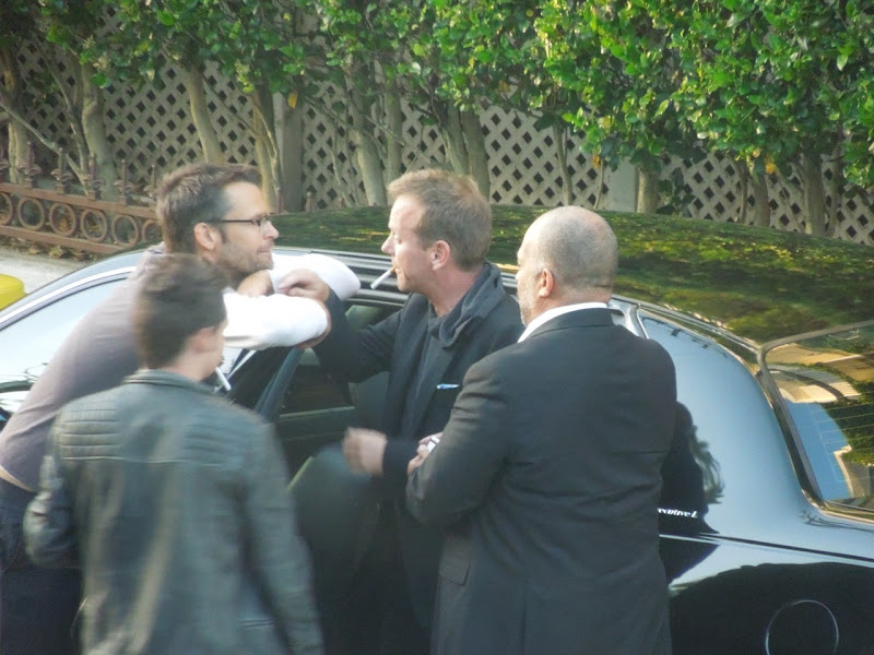 Drunk Kiefer Sutherland outside Petit Hermitage Hotel