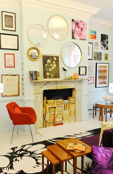 Kate Spade Wall Decor parlour: building an art wall