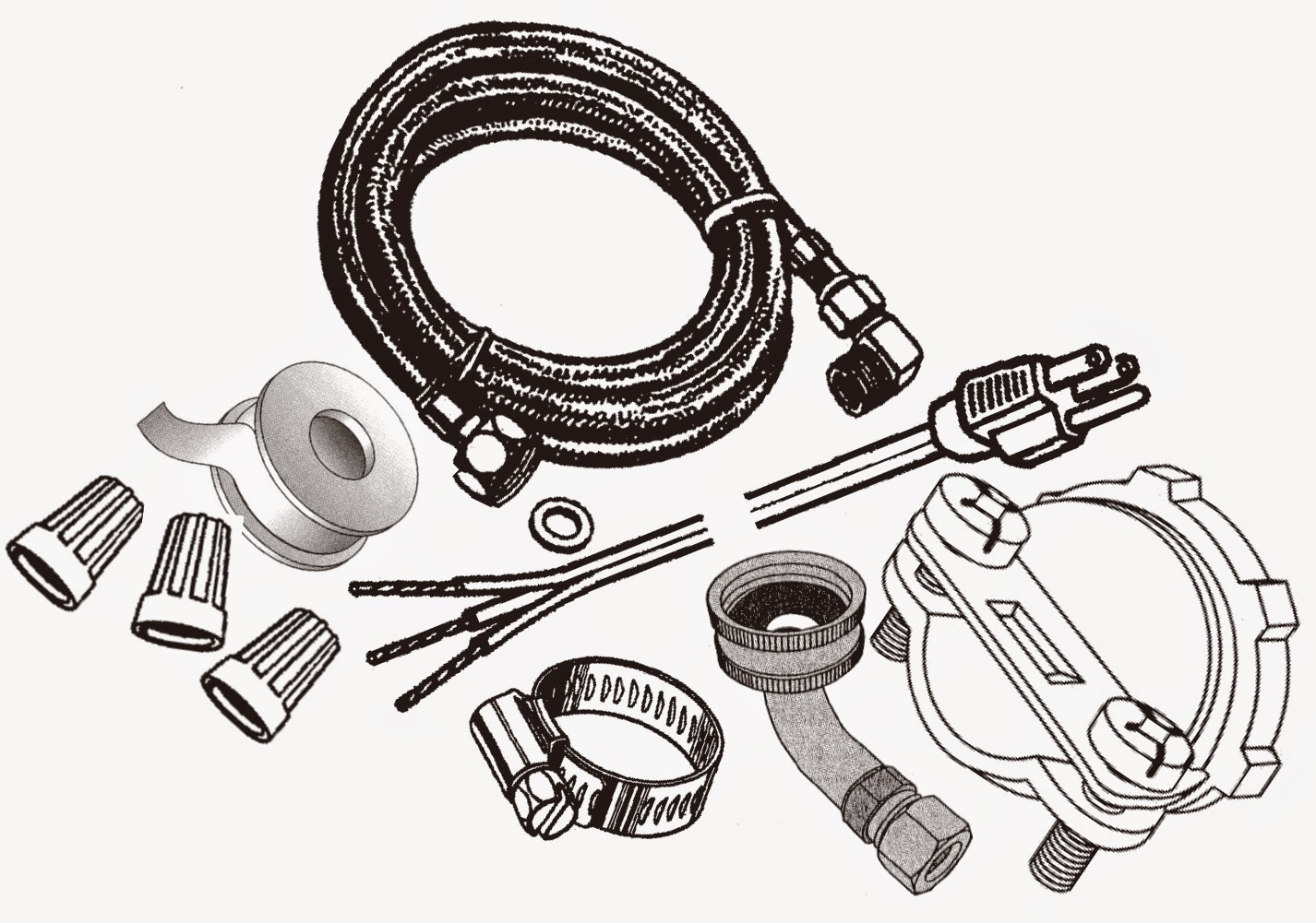 Universal Dishwasher Install Kit DWK-6572DW