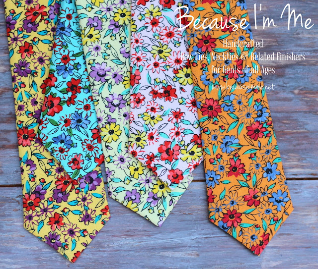 Because I'm Me flower sack floral neckties