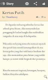 Thumbstory Apk - Aplikasi untuk menulis dan membaca Cerita Pendek