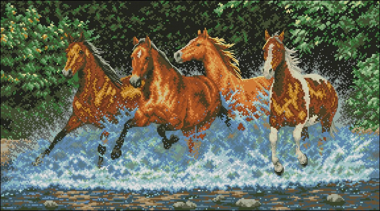 лошадки схемы бисером