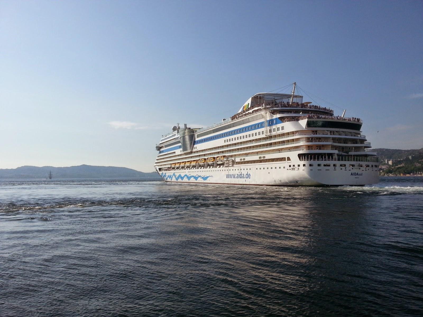 Cruise Ship AIDAsol in Bergen, Norway