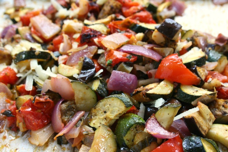 oven baked ratatouille is a delicious and pretty vegetable side dish