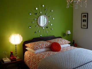 Green Lime Bedroom Wall