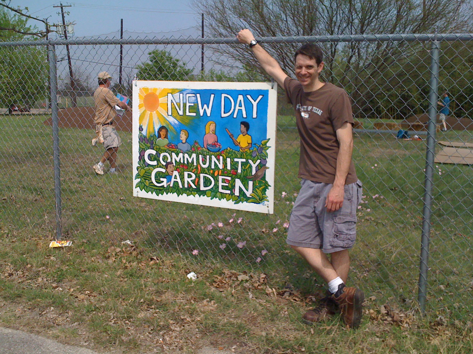 art and design New Day Community Garden Sign